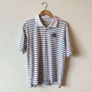 Men's Striped Under Armour Polo - Country Club